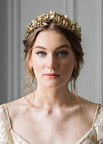 Charming Cinderella's Prince Kostüm - Deniferymakeup Vintage Barock Hochzeit Olivenzweig Krone und Tiara Brautschmuck Prinzessin Königin Krone für Braut und Brautjungfer