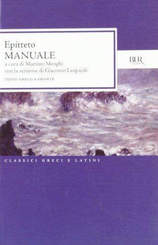Manuale di Epitteto di Epitteto,M. Menghi