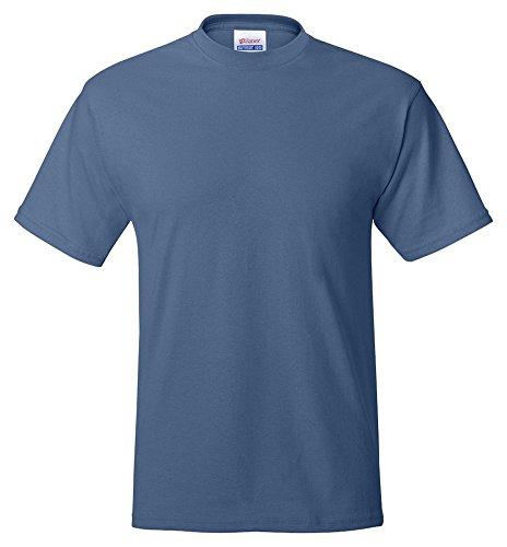 Hanes Adult ComfortBlend Eco Smart Crewneck Hem T-Shirt Denim Blue
