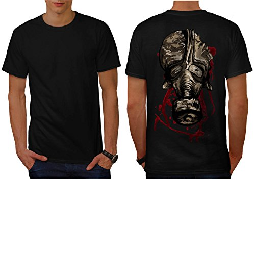 scheusslich-gas-maske-blut-spritzer-herren-neu-schwarz-l-t-shirt-zuruck-wellcoda