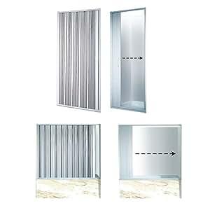 Porte paroi de douche baignoire extensible 80 95 cm bricolage - Porte de douche extensible ...