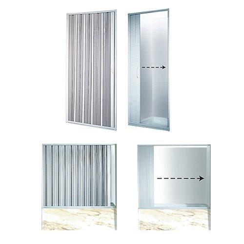 Duschwand VARIABLE BREITE 25-80 cm Duschabtrennung Faltwand Duschtür Badewannenaufsatz Dusche