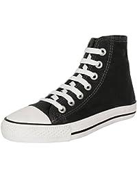 Authentic Vogue Women's Ankle Length Denim Black Sneakers-Lace Up Style-Denim Black