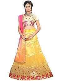 ShreeBalaji multicolor silk embroidary Lehenga Choli (SBE-023_Free Size)