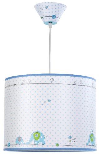 Dalber 72512 - Lámpara de Techo, diseño de Elefantes, color Azul