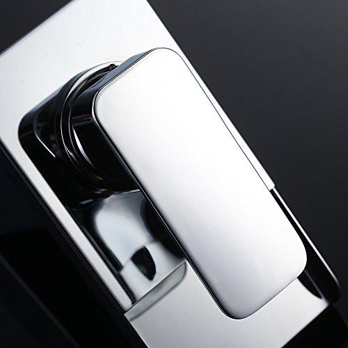 Homelody – Wasserfall-Waschtischarmatur, Einhebel, LED-Beleuchtung, Temperatur-Farbwechsel, Chrom - 7