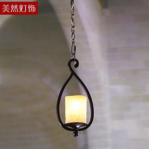 SDKKY Die USA Aber Amerikanische Schmiedeeiserne Kronleuchter Im Restaurant  MIT BAR Lampe   Lampe Im Retro