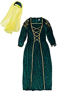 I Love Fancy Dress. ilfd7010m Niñas Tudor Princesa Disfraces (Tamaño Mediano)