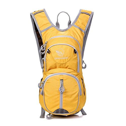 Mode Sport Radfahren Rucksack Im Freien Leicht Schulter Tasche Yellow