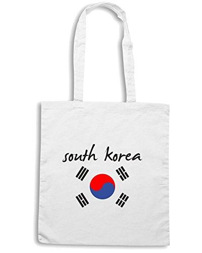 T-Shirtshock - Borsa Shopping T0707 sud korea calcio ultras Bianco