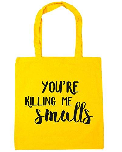 hippowarehouse-me-estas-matando-smalls-tote-compras-bolsa-de-playa-42-cm-x38-cm-10-litros-amarillo-a