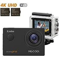 MGCOOL Aktion Kamera 4K 16MP Explorer Pro Von Kissliss 30m Wasserdicht Sport Kamera 170° Weitwinkel Action Cam 2.0 Zoll LCD Mit WIFI