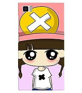 TOUCHNER (TN) Cap Girl Back Case Cover for Xiaomi Redmi Mi3::Xiaomi Mi 3