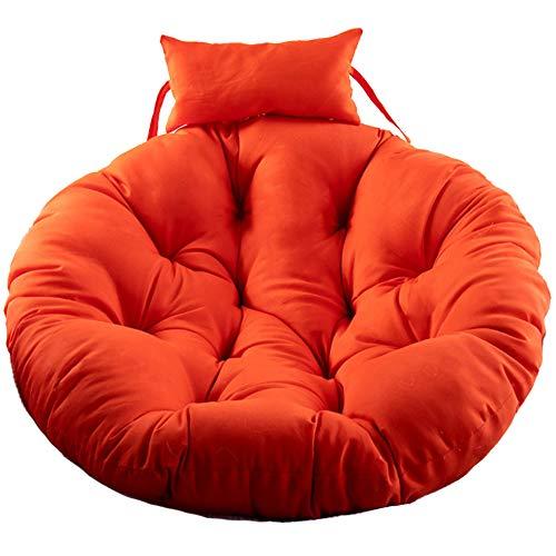 Round Hanging Eggs Chair Kissen, Dickes Ei-Nest Geformte Kissen-korbschwenkstuhl-bessen Mit Reißverschluss Hängendes Hängemissen-orange 105cm(41inch)