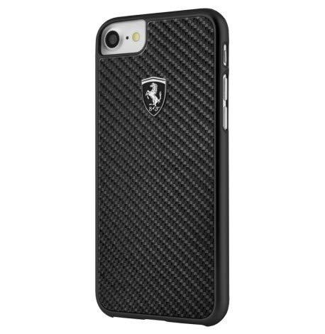 Ferrari FEHCAHCP7BK CG Mobile Handyhülle für Apple iPhone 8/7 schwarz