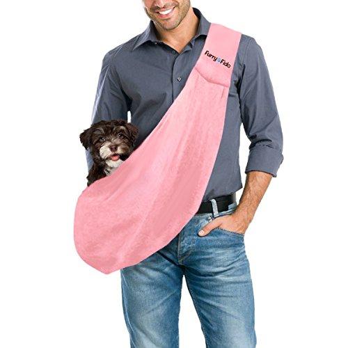 FurryFido zweiseitige Haustiertrage – Für Katzen und Hunde bis zu 6kg geeignet – Premium Qualität, sicher und bequeme Schultertaschen – Trage deine Haustiere umher, in diesem hochwertigen Reiseaccessoire (Hund Tragen)