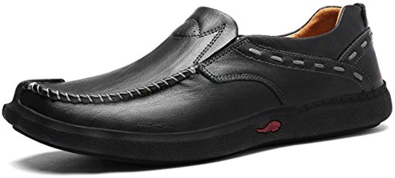 DHFUD Hombres Adulto Negocios Moda Transpirable Conducción Zapatos De Cuero -