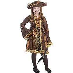 Vestido de pirata para niña, marrón, diferentes tallas.