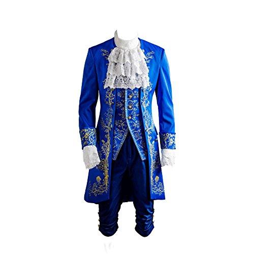 MingoTor Die Schöne und das Biest Prinz Cosplay Kostüm Herren L (Beast Für Erwachsene Herren Kostüm)