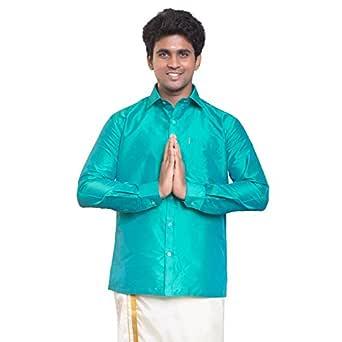THANGAMAGAN Mens FH Shirt Aqua Size 36