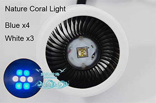 Aquarium Licht Lampe Mini Nano Coral SPS LPS Riff Algen Grow Supplement LED-Licht Aquarium Marine Salzwasser Aquarium Aquarium Lichter (Color : Nature Coral Light) -