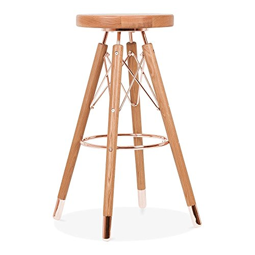 Cult Design Tabouret de Bar Moda CD3, Bois Massif, Naturel 75cm