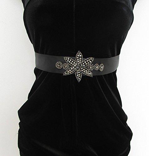 Ceinture perles gris anthracite noir ANNÉES 1920 Flapper Prom Gatsby Vintage satin 30S 5 AQ * * * * * * * * exclusivement vendu par – Beauté * * * * * * * *