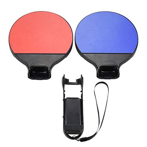 Jaromepower Tischtennisgriff + 2 x Tennisschläger Griff Controller Halter für Schalter ONE Size Mehrfarbig