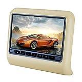 CAPTIANKN Car DVD-Display, 10,1 Zoll Hanging Entertainment Video Car Headrest DVD Display,Beige