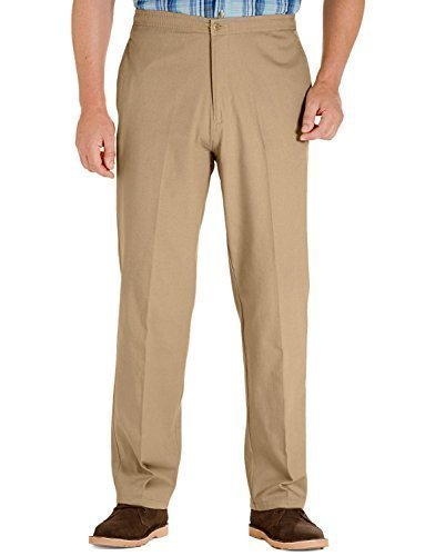 Mens Cotton Elasticated Rugby Trousers with Drawcord, Sand 38 x 29