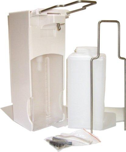 Preisvergleich Produktbild Universal-Spender Desinfektionsspender Seifenspender 1000 ml Euronorm langer + kurzer Hebel - weiß