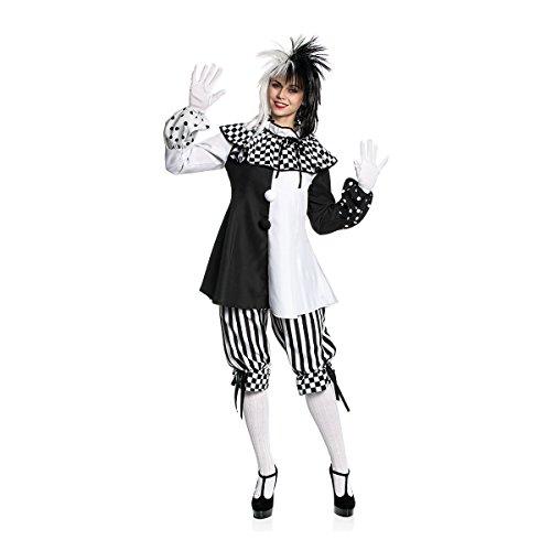 Clown Übergröße Kostüm Damen - Kostümplanet® Clown-Kostüm Damen Größe 40/42