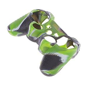 Haut Kasten Silikon Schutzhülle für PS2 PS3 Controller Armee Grün
