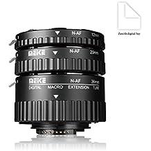 Meike MK-N-AF1-B electrónica de plástico tubo de extensión macro AUTO Foucs adaptador de montaje para Nikon DSLR Cámara y Nikkor AF, AF-S, D, G y VR lente cámaras de la serie D80D90D300d300sd800D3100D3200D5000D51000D5200D7000D7100etc.