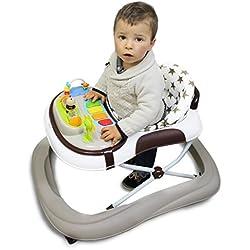 Monsieur Bébé ® Andador para bebé evolutivo musical, plegable y regulable en altura- Norma NF EN 1273 (Agosto 2005)