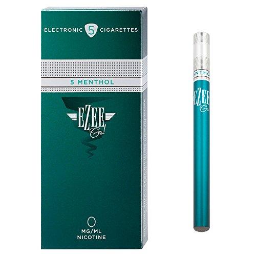Ezee Go Einweg E-Zigarette Menthol Geschmack Nikotinfrei Elektronische Verdampfer bietet etwa 400 Züge e Shisha 5 Stück