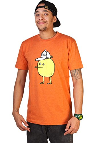 Cleptomanicx Zitrone T-Shirt (heather orange) Orange