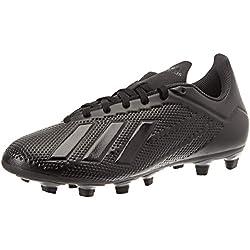 adidas X 18.4 FG, Zapatillas de Fútbol para Hombre, Negro (Core Black/Footwear White/Solid Grey 0), 42 EU