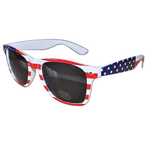 USA Flag Design Retro Drifter Style Sunglasses