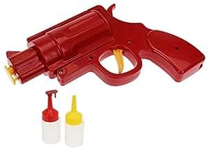 Mustard NG4001 Dispenser per Salse - Rosso e Giallo Condiment Pistola