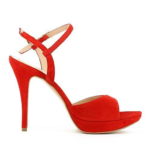 Evita Shoes  Valeria, Sandales pour femme rouge foncé