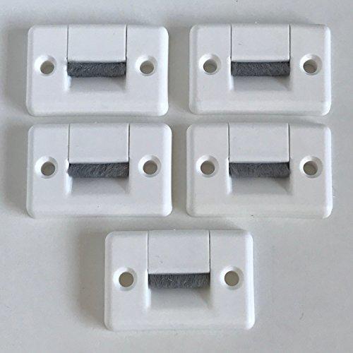 5x Gurtdurchführung für Maxi Gurt 23mm Gurtbreite mit Bürste - zweiteilig - Rollladen Zubehör Bayram® (Eckig)