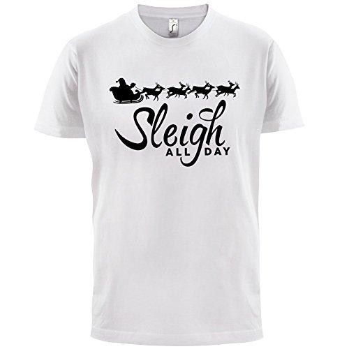 Sleigh All Day - Herren T-Shirt - 13 Farben Weiß
