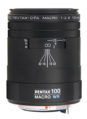 Pentax SMC-D FA 100mm / f2,8 WR Objektiv (Macro Tele, wasserdicht, 49mm Filtergewinde) schwarz (Sand Fett Make Up)