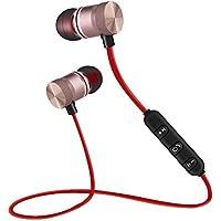VBESTLIFE Auricolare senza fili,Magnete Wireless Bluetooth 4.1 Sport Auricolari Stereo con microfono per iPhone/Android(Oro)