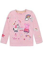 Idea Regalo - Peppa Pig Maglietta a Maniche Lunga Unicorno Ragazza Rosa 3-4 Anni