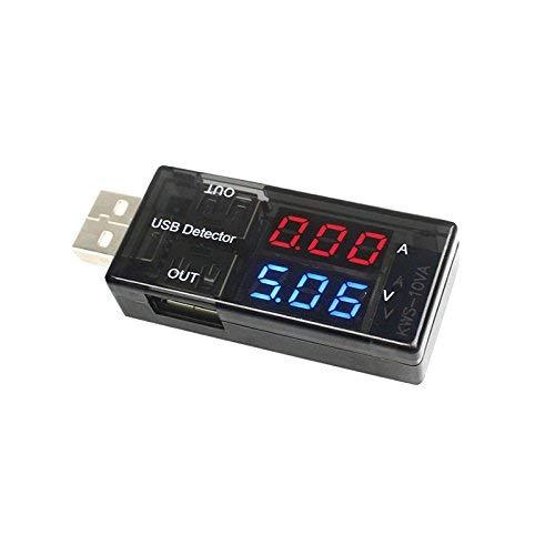 USB Ladegerät Detektor Strom Spannung Strom Tester Doppel- Digitalanzeige Volt Ampere Meter für Android Handy und Iphones - Spannung Detektor
