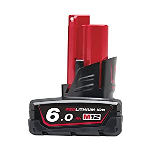 Milwaukee M12B6 12v 6.0Ah Red Lithium-ion Battery