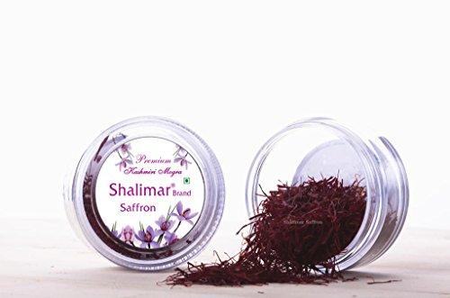 2grams Certified Grade A Premium Organic Kashmir Saffron Kesar - Shalimar Brand Premium Saffron 2Gram (1Pack of 2Grams)