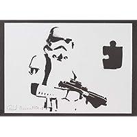Stormtrooper STAR WARS Soldado Imperial Hecho A Mano - Handmade Street Art Poster